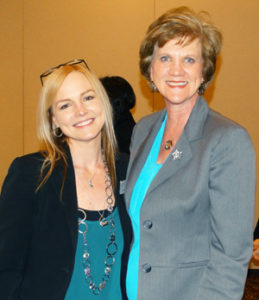 Picture of KCSDV Statewide Awards Luncheon Kathy Ray KCSDV & Marlou Wegener BCBS Foundation