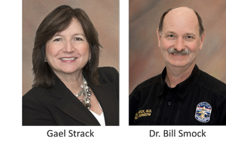 Gael Strack and Dr. Bill Smock