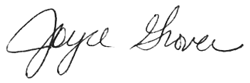 Joyce Grover signature